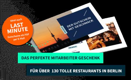 Mitarbeitergeschenk Berlin PayNowEatLater Restaurant Gutscheine