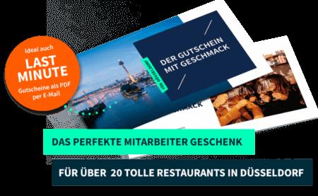 Mitarbeitergeschenk Düsseldorf PayNowEatLater Restaurant Gutscheine