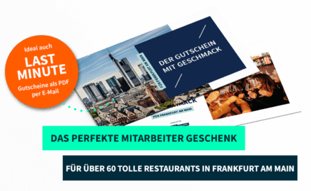 Mitarbeitergeschenk Frankfurt PayNowEatLater Restaurant Gutscheine