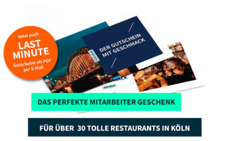 Mitarbeitergeschenk Köln PayNowEatLater Restaurant Gutscheine