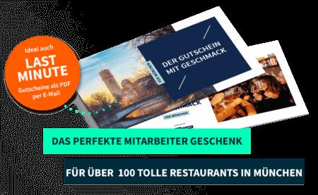 Mitarbeitergeschenk München PayNowEatLater Restaurant Gutscheine
